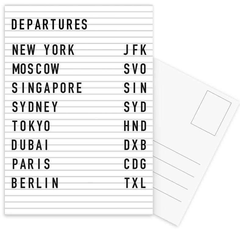 Departure New York -Postkartenset