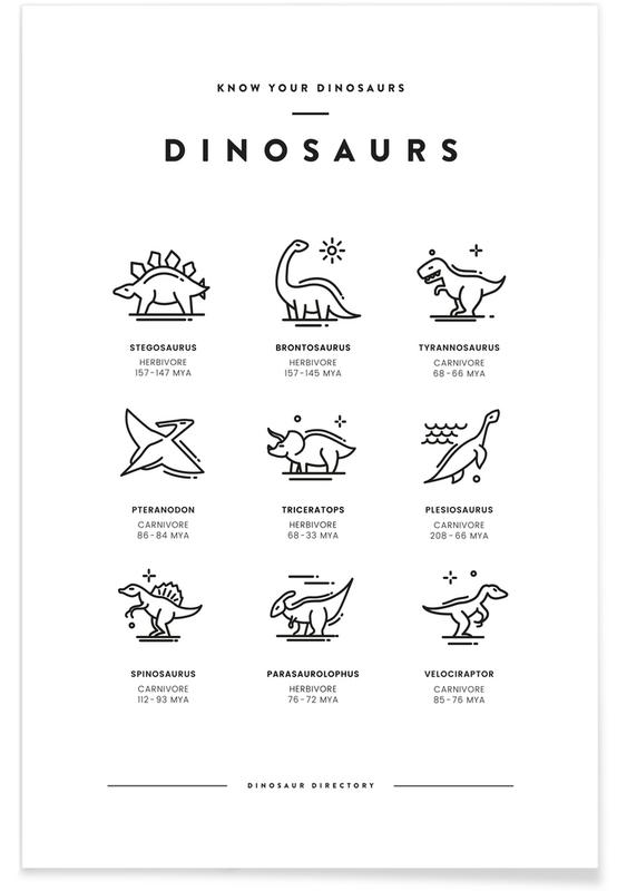 Dinosaurs chart poster