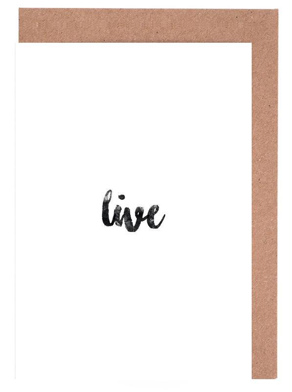Live -Grußkarten-Set