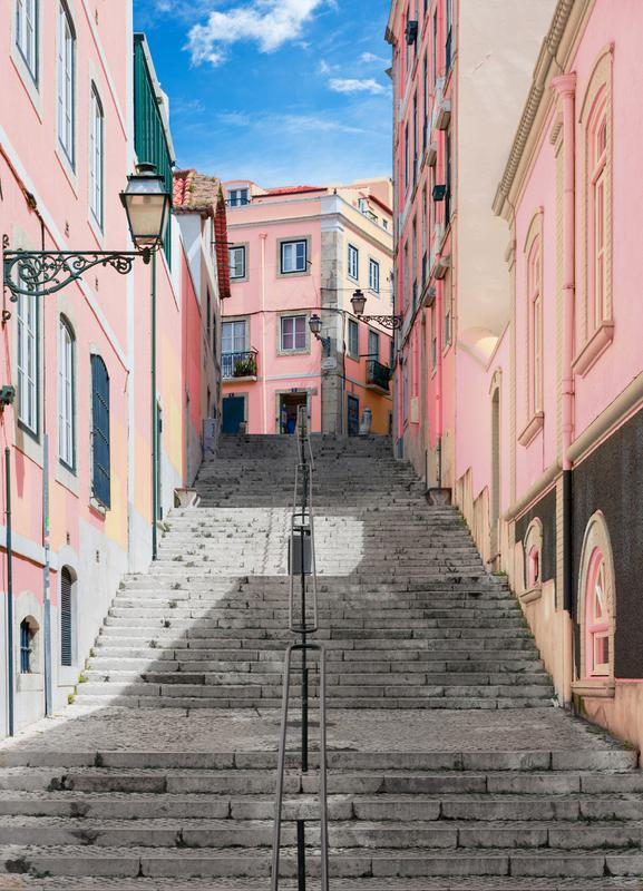 Pink Stairway toile