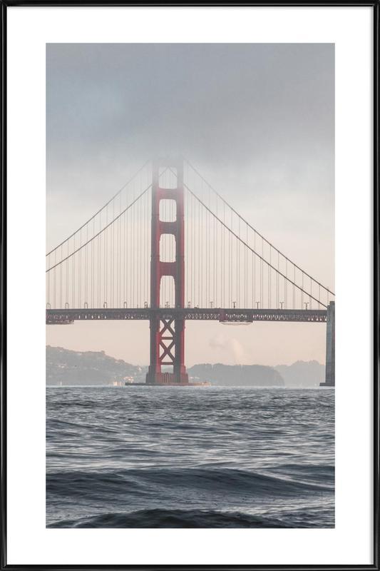 Golden Gate Bridge affiche encadrée
