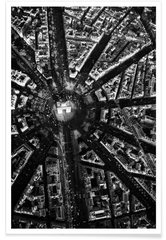 Paris Aerial Poster