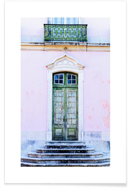 Lisbon Doorway poster