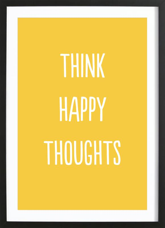 Happy Thoughts Poster i träram