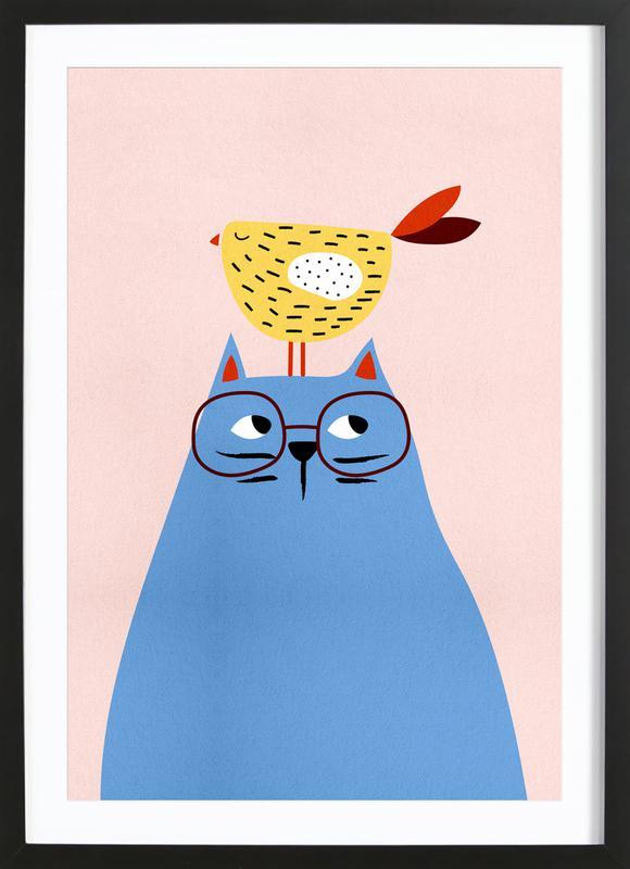 A Very Patient Cat Poster i träram