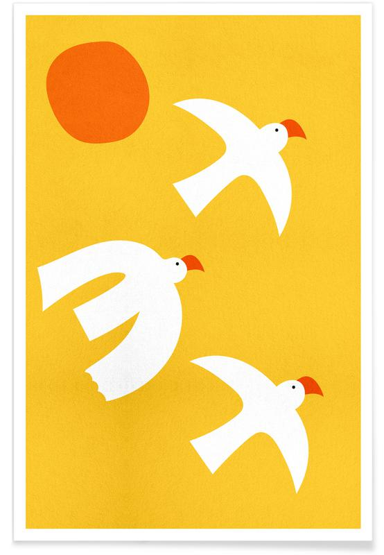 Flying Doves -Poster