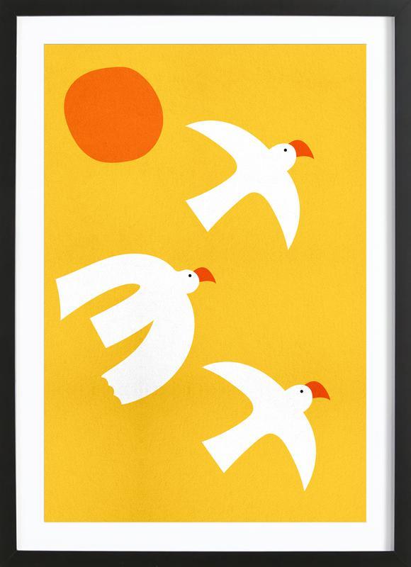 Flying Doves Framed Print