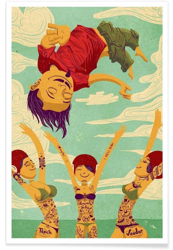 Tapete Voador Poster