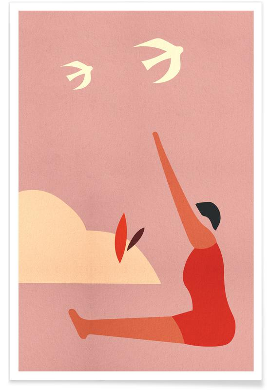 Outdoor Yoga Poster