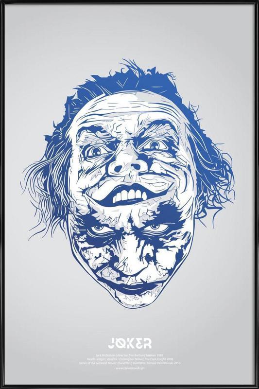 Joker -Bild mit Kunststoffrahmen