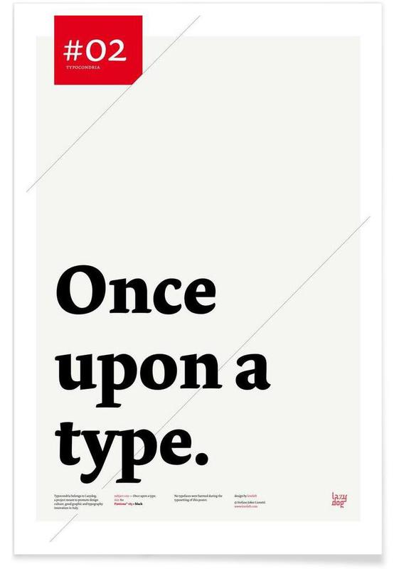 Once upon a type Poster