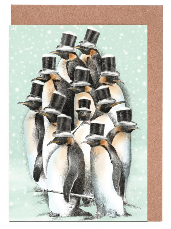 A gathering in the snow Greeting Card Set