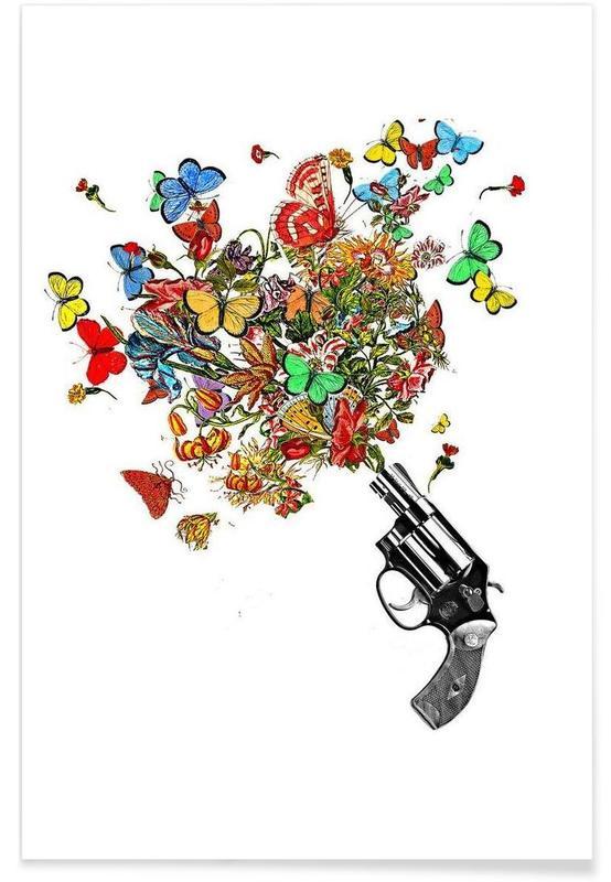 Pow!! Flowers!! Poster