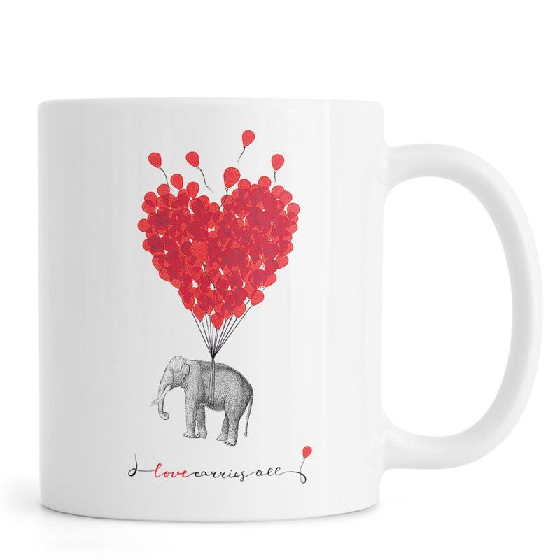 Love carries all - elephant mug