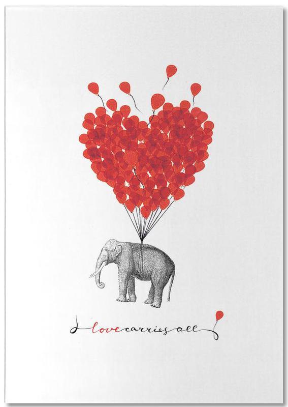 Love carries all - elephant -Notizblock
