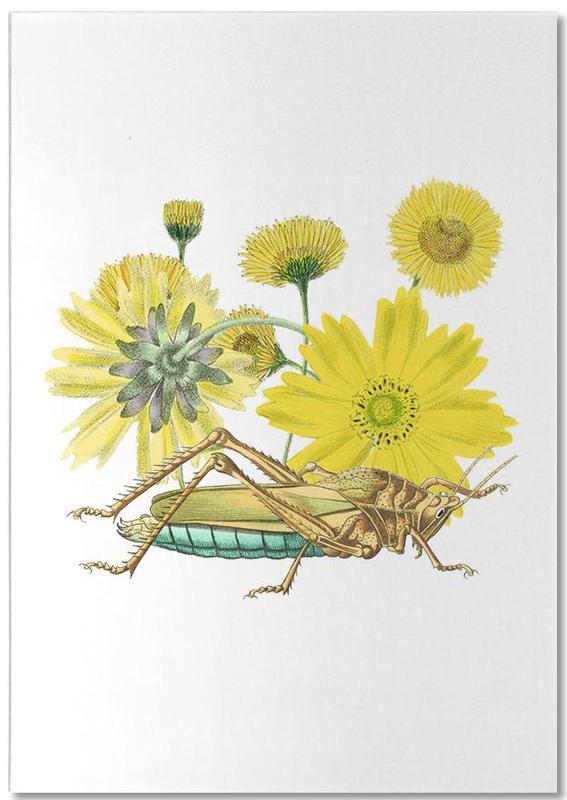 Yellow Flowers and Grasshopper -Notizblock