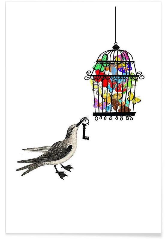 The bird has the key Poster