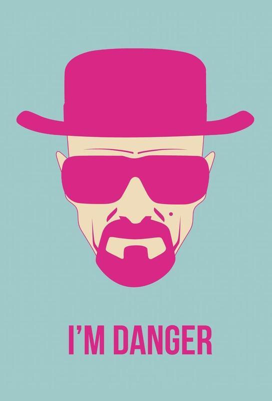 I'm Danger Poster 2 Aluminium Print