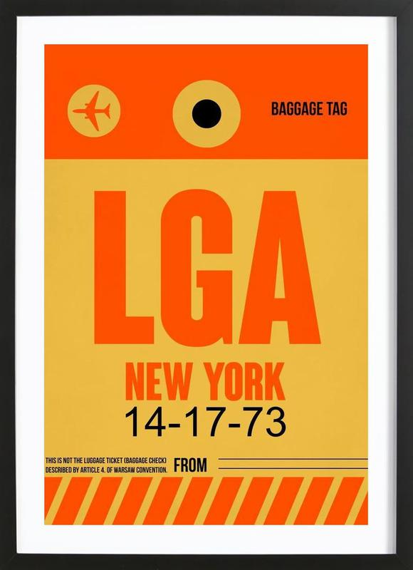LGA-New York Framed Print