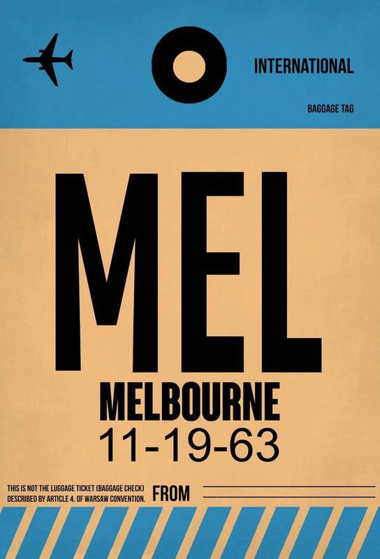 MEL-Melbourne acrylglas print