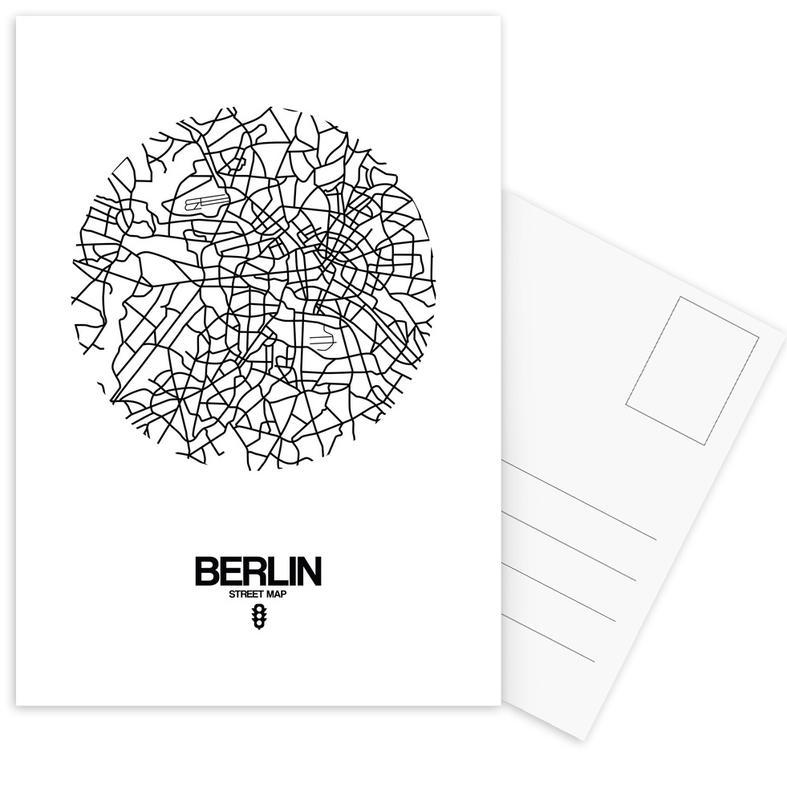 Berlin Street Map Postcard Set