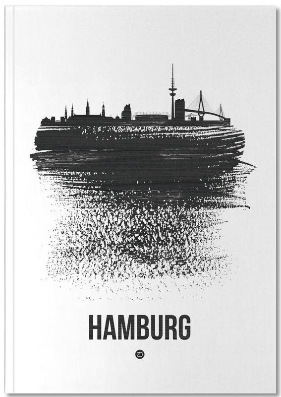 Hamburg Skyline Brush Stroke Notebook