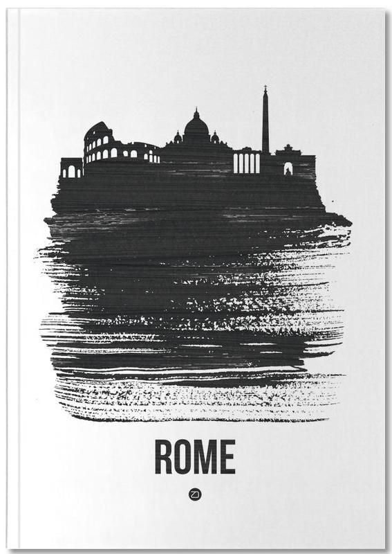Rome Skyline Brush Stroke Notebook