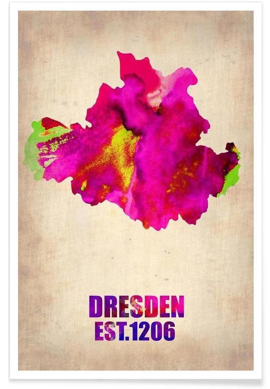 Dresden Watercolor Map Poster