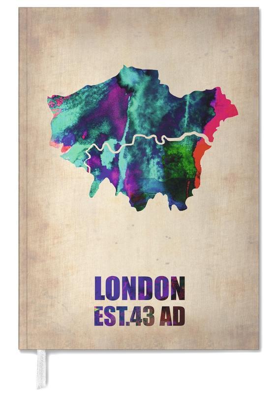 London Watercolor Map agenda