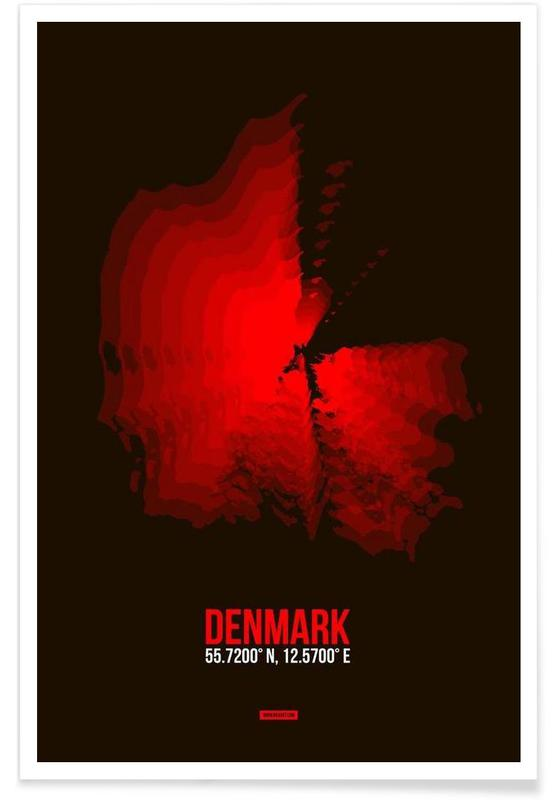 Denmark Radiant Map Poster