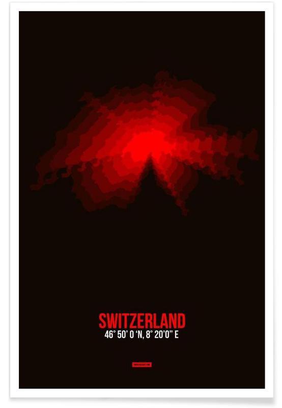 Switzerland Radiant Map affiche