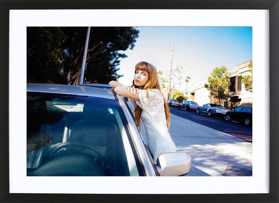 Cars in Echo Park ingelijste print