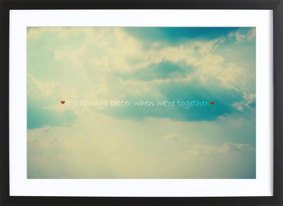 When We're Together Framed Print