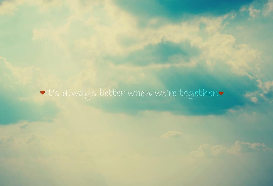 When We're Together Acrylic Print