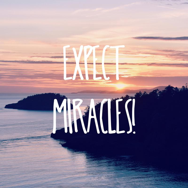 Expect Miracles Canvas Print