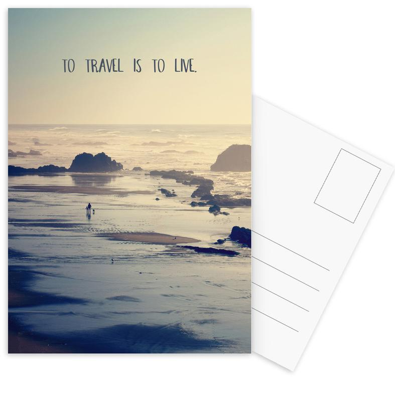 To Travel Is to Live Postcard Set