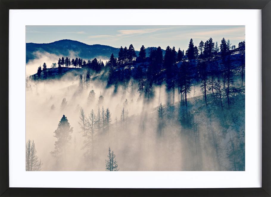 Mountaintop Living -Bild mit Holzrahmen