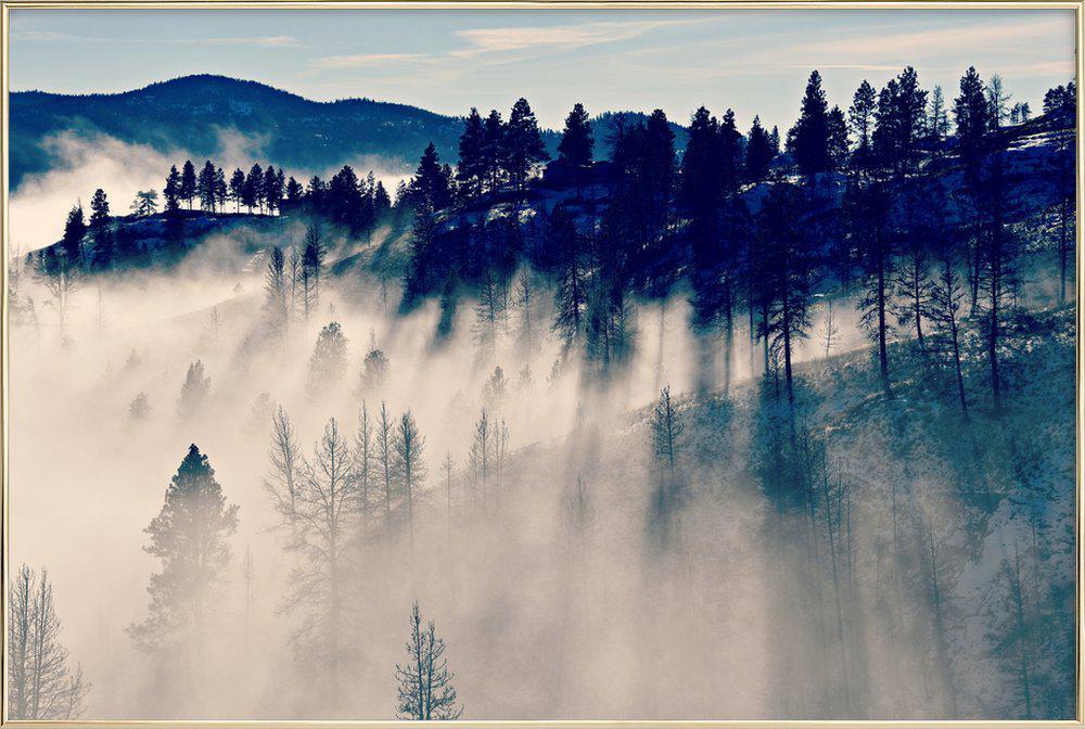 Mountaintop Living -Poster im Alurahmen